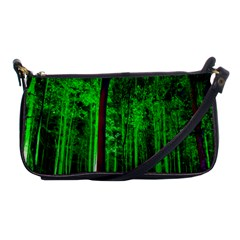Spooky Forest With Illuminated Trees Shoulder Clutch Bags
