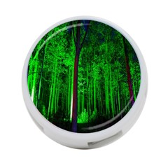 Spooky Forest With Illuminated Trees 4-Port USB Hub (One Side)