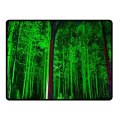 Spooky Forest With Illuminated Trees Fleece Blanket (small)
