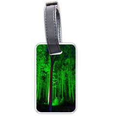Spooky Forest With Illuminated Trees Luggage Tags (Two Sides)