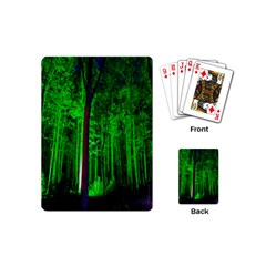 Spooky Forest With Illuminated Trees Playing Cards (Mini)