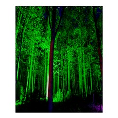 Spooky Forest With Illuminated Trees Shower Curtain 60  x 72  (Medium)