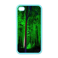 Spooky Forest With Illuminated Trees Apple iPhone 4 Case (Color)