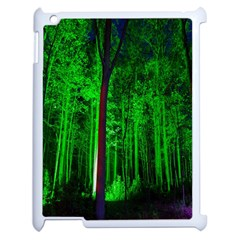 Spooky Forest With Illuminated Trees Apple iPad 2 Case (White)