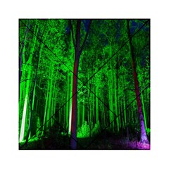 Spooky Forest With Illuminated Trees Acrylic Tangram Puzzle (6  x 6 )
