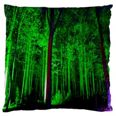 Spooky Forest With Illuminated Trees Large Cushion Case (one Side)
