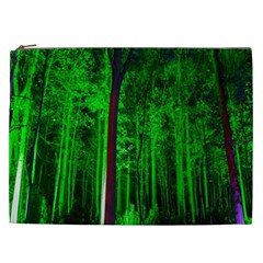 Spooky Forest With Illuminated Trees Cosmetic Bag (xxl)