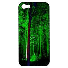 Spooky Forest With Illuminated Trees Apple Iphone 5 Hardshell Case