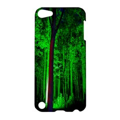 Spooky Forest With Illuminated Trees Apple iPod Touch 5 Hardshell Case