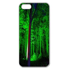 Spooky Forest With Illuminated Trees Apple Seamless iPhone 5 Case (Clear)