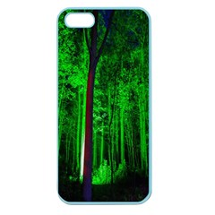 Spooky Forest With Illuminated Trees Apple Seamless Iphone 5 Case (color)