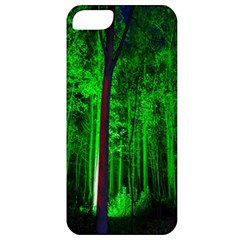 Spooky Forest With Illuminated Trees Apple iPhone 5 Classic Hardshell Case
