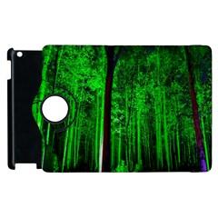 Spooky Forest With Illuminated Trees Apple iPad 2 Flip 360 Case