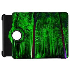 Spooky Forest With Illuminated Trees Kindle Fire HD 7