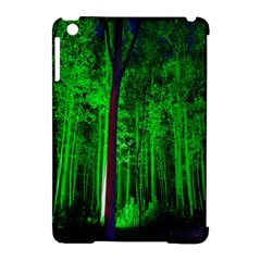 Spooky Forest With Illuminated Trees Apple iPad Mini Hardshell Case (Compatible with Smart Cover)