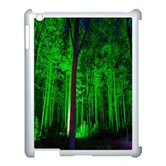 Spooky Forest With Illuminated Trees Apple Ipad 3/4 Case (white)