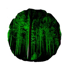 Spooky Forest With Illuminated Trees Standard 15  Premium Round Cushions