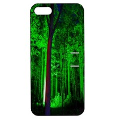 Spooky Forest With Illuminated Trees Apple iPhone 5 Hardshell Case with Stand