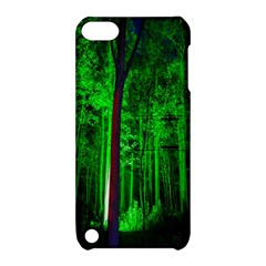 Spooky Forest With Illuminated Trees Apple Ipod Touch 5 Hardshell Case With Stand