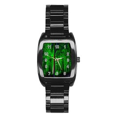 Spooky Forest With Illuminated Trees Stainless Steel Barrel Watch