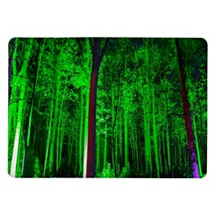Spooky Forest With Illuminated Trees Samsung Galaxy Tab 10 1  P7500 Flip Case