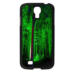 Spooky Forest With Illuminated Trees Samsung Galaxy S4 I9500/ I9505 Case (Black)