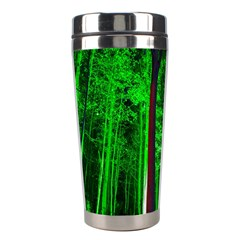 Spooky Forest With Illuminated Trees Stainless Steel Travel Tumblers