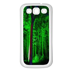 Spooky Forest With Illuminated Trees Samsung Galaxy S3 Back Case (white)