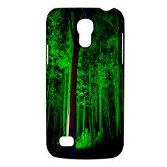 Spooky Forest With Illuminated Trees Galaxy S4 Mini
