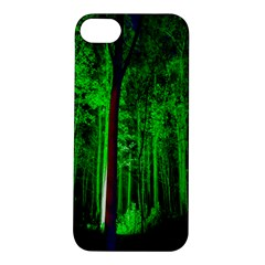 Spooky Forest With Illuminated Trees Apple iPhone 5S/ SE Hardshell Case