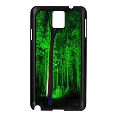Spooky Forest With Illuminated Trees Samsung Galaxy Note 3 N9005 Case (Black)