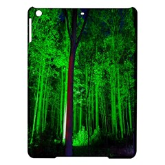 Spooky Forest With Illuminated Trees iPad Air Hardshell Cases