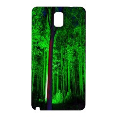 Spooky Forest With Illuminated Trees Samsung Galaxy Note 3 N9005 Hardshell Back Case