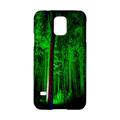Spooky Forest With Illuminated Trees Samsung Galaxy S5 Hardshell Case