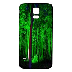 Spooky Forest With Illuminated Trees Samsung Galaxy S5 Back Case (White)
