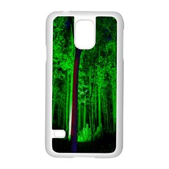 Spooky Forest With Illuminated Trees Samsung Galaxy S5 Case (White)