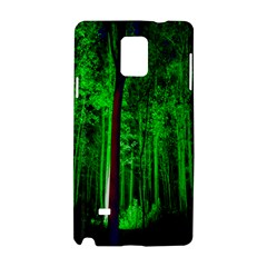 Spooky Forest With Illuminated Trees Samsung Galaxy Note 4 Hardshell Case