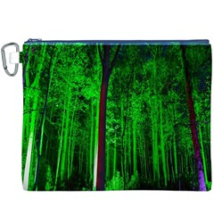Spooky Forest With Illuminated Trees Canvas Cosmetic Bag (XXXL)