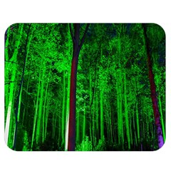 Spooky Forest With Illuminated Trees Double Sided Flano Blanket (medium)