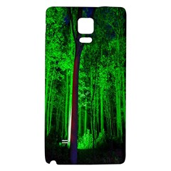 Spooky Forest With Illuminated Trees Galaxy Note 4 Back Case