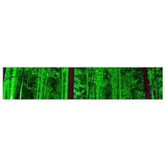 Spooky Forest With Illuminated Trees Flano Scarf (small)