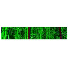 Spooky Forest With Illuminated Trees Flano Scarf (large)
