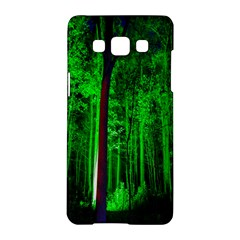 Spooky Forest With Illuminated Trees Samsung Galaxy A5 Hardshell Case