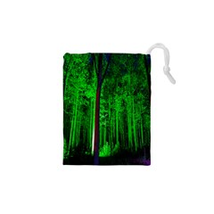 Spooky Forest With Illuminated Trees Drawstring Pouches (XS)