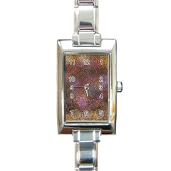 2000 Spirals Many Colorful Spirals Rectangle Italian Charm Watch