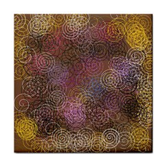 2000 Spirals Many Colorful Spirals Tile Coasters
