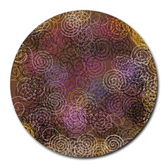 2000 Spirals Many Colorful Spirals Round Mousepads