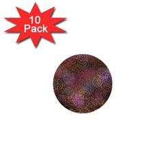 2000 Spirals Many Colorful Spirals 1  Mini Buttons (10 pack)