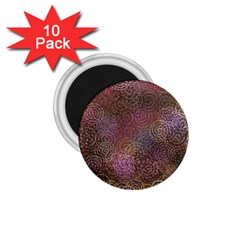 2000 Spirals Many Colorful Spirals 1 75  Magnets (10 Pack)