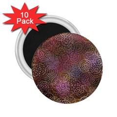 2000 Spirals Many Colorful Spirals 2 25  Magnets (10 Pack)